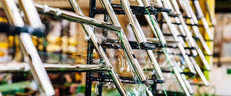Bright chrome plating of chairs